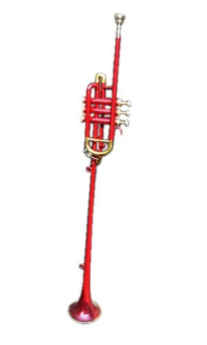 """FLAG TRUMPET""""FULLYBRASS_MADE RED_COLORED""""AWESOME QUALITY PITCH W/CASE&MPEBAY"""
