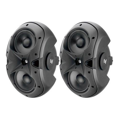Electro-Voice EVID 6.2 Dual 6″ Two-Way Surface-Mount Loudspeaker, Pair, Black