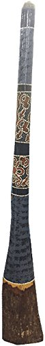 Australian Aboriginal 52 inch Greg Reid Dab Dot Didgeridoo grey blue