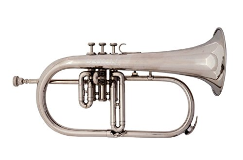 BRAND NEW SILVER Bb FLUGEL HORN+FREE CASE+MOUTHIPICE+FAST DELIVERY