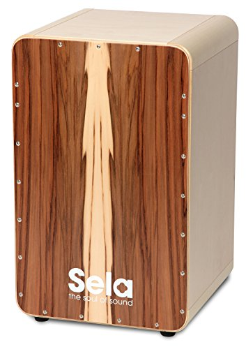Sela SE 002A CaSela Satin Nut Professional Snare Cajon with removable Sela Snare System and special Clap Corners