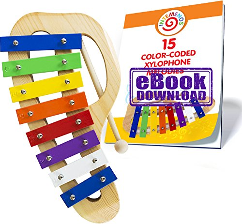 Rainbow Xylophone for Children – 15 Color-Coded Song E-book just for this Glockenspiel