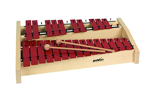 Goldon 11144 Sound Plates Octaves Metallophone – Red