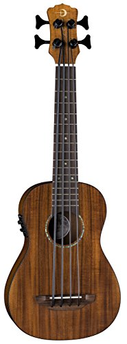 Luna UKE BBASS KOA FL Bari-Bass Ukulele with Preamp Fretless, Koa