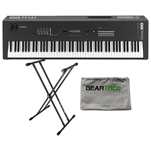Yamaha MX88 88 Note Weighted Action Synthesizer w/Cleaning Cloth and Double X S