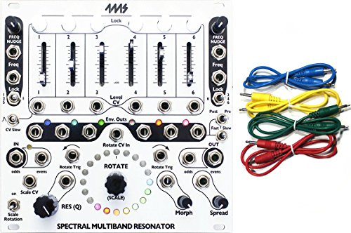 4MS SMR Spectral Multi-Band Resonator Eurorack Synth Module w/ 4 Cables