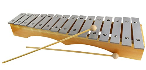 Xylophone Glockenspiel for Adults – Professional Diatonic Metallophone 19 inches