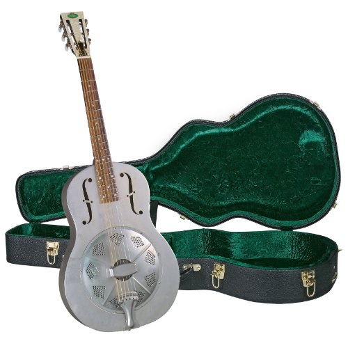 Regal RC-43 Metal Body Triolian Guitar – Antiqued Nickel-Plated Steel – with Deluxe Hardshell Case