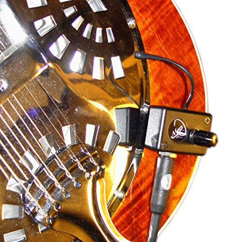 DOBRO HOUND DOG ROUND NECK RESONATOR GUITAR PICKUP with FLEXIBLE MICRO-GOOSE NECK by Myers Pickups ~ See it in ACTION! Copy and paste: myerspickups.com