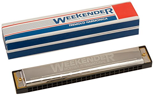 Hohner 98.115BX Weekender (24 Hole) Tremolo Harmonica with Retail Box Package, Key of C