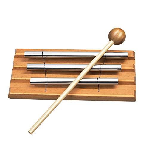 Meditation Chime Zenlink Yoga Chime Silver Chime-Tabletop Chimes Educational Musical Toy Percussion Instrument with Mallet-For Kids and adults.