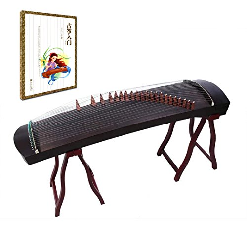 OrientalMusicSanctuary Professional Black Sandalwood Travel Guzheng – INCLUDES COMPREHENSIVE TUTORIAL BOOK AND ETUDES