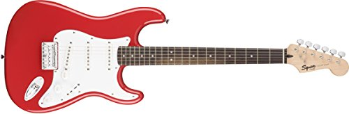 Fender 311001540 Squier by Bullet Stratocaster Electric Guitar – Hard Tail – Rosewood Fingerboard – Fiesta Red