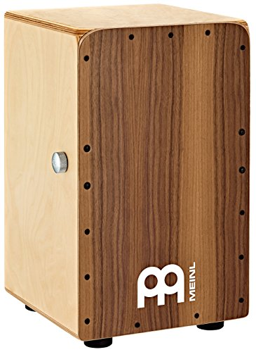 Meinl Percussion SCP100WN Snarecraft Professional Baltic Birch Wood Cajon with Knob Snare Throw-Off, Walnut