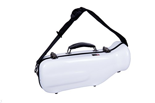Crossrock Trumpet Case- Fiberglass Hardshell with Backpack Straps in White