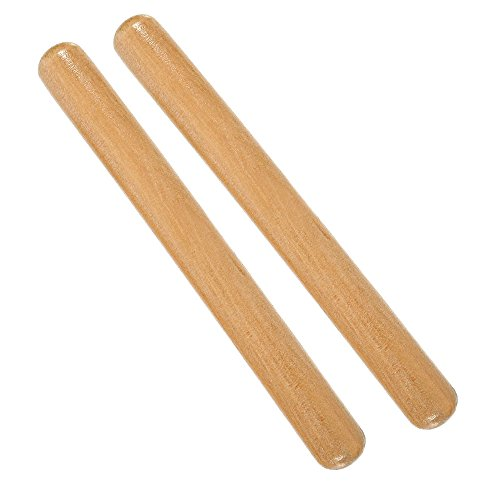 2 Pack 8 Inch Classical Solid Hardwood Claves