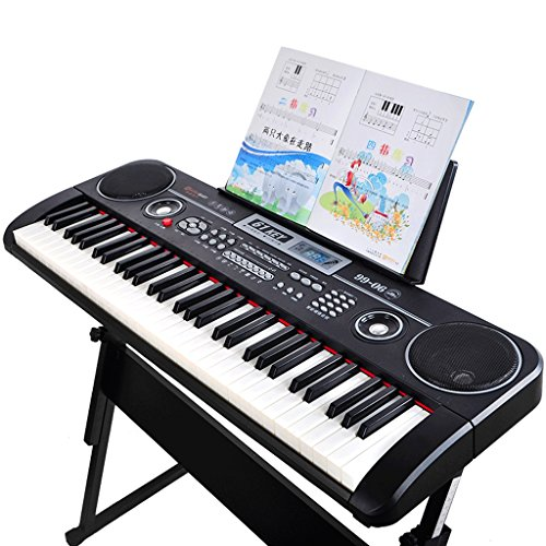DUWEN Keyboard Children's Multifunctional Keyboard 61 Keys Beginner 1-3-6-12 Years Old Household Getting Started Piano Black: Piano Keys USB Version + Piano Stand + Piano Cover