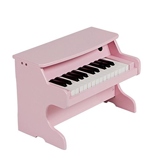 DUWEN Keyboard Children's Wooden Keyboard Beginners 1-3-6 Years Old Boys And Girls (Color : Pink)