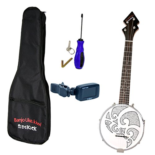"Baoblaze 26"" 4 String Banjo Ukulele Uke with Gig Bag Tuner Screwdriver for Country Folk Music"