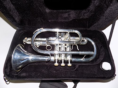 Bb Brass Cornet Lacquer/Silver plated Bell 119mm with Case Professional Musical Instruments