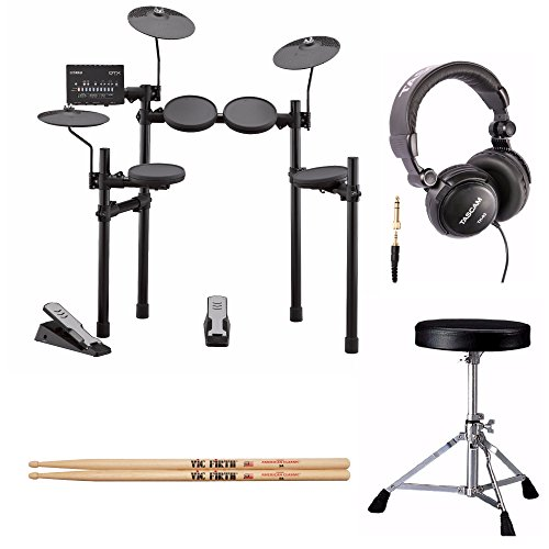 Yamaha DTX402K Electronic Drum Set with Drum Throne, Drumsticks and Stereo Headphones