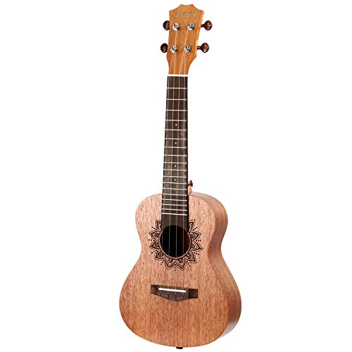 Neewer 23 inches Ukulele Rosewood Body and Rosewood Fingerboard with 4 Carbon Strings, Ideal for Beginner Music Lover