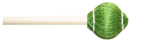 Mike Balter 22B Pro Vibe Series Medium Vibraphone Mallets with Birch Handles, Hard Green