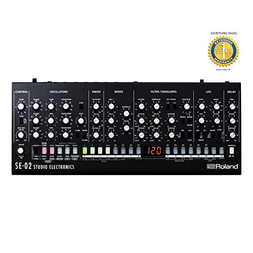Roland SE-02 Boutique Designer Series Analog Synthesizer with 1 Year EverythingMusic Extended Warranty Free