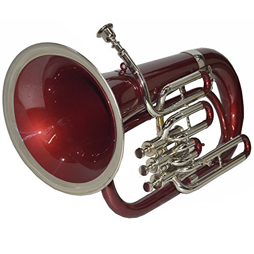 CORNET Bb PITCH RED+NICKEL COLOR WITH HARD CASE AND MOUTHPIECE