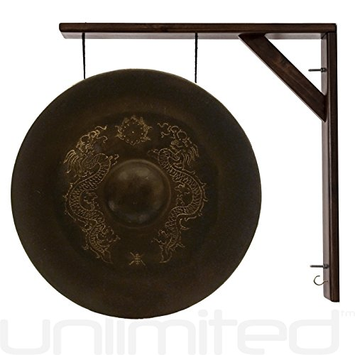 17″ Vietnamese Dragon Gong on the Great Wall Gong Hangers