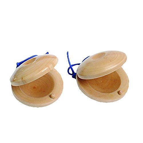 Wooden Castanets With Elastic Cord