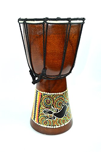 Djembe Drum- African Percussion Drum, Bongo Hand Drum Professional Sound by Bethlehem Gifts TM (14.5″)