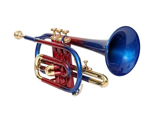 CORNET Bb PITCH MULTI COLOR WITH HARD CASE AND MOUTHPIECE