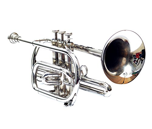 Cornet Bb Pitch With Free Hard Case And Mouthpiece, Nickel Silver