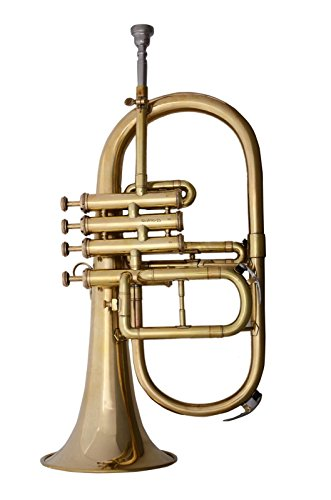 FABULOUS QUALITY SOUNDS BRASS Bb 4VALVE FLUGEL HORN FREE HARD CASE+M/P+FAST SHIP