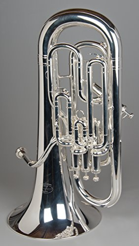 Tempest Agility Winds Bb Fully Compensating 3+1 (4 Valve) Euphonium Silver Plated Professional Great Pitch with Big Sound Case & Mouthpiece 5-Year Warranty