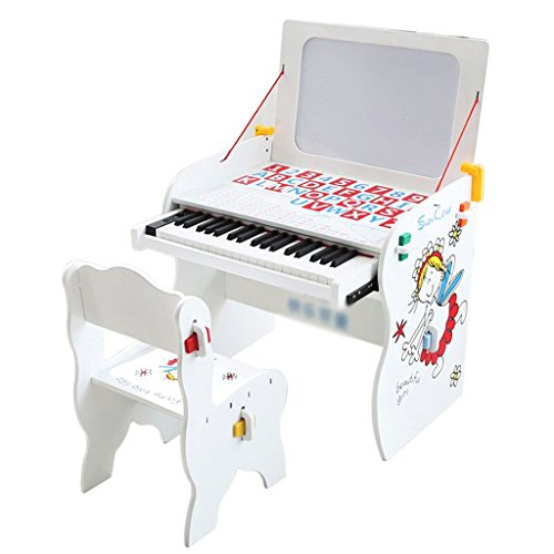 DUWEN Keyboard Children's Electronic Piano 49-Keys White Learning Table Drawing Board Three-in-one Introduction To Teaching Electronic Piano
