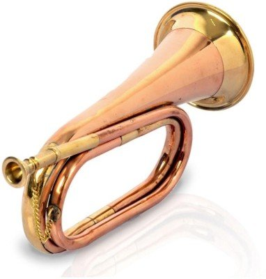 Bb Low Pitch Tuneable Army,Military Copper Bugle With Free Hard Case+M/P