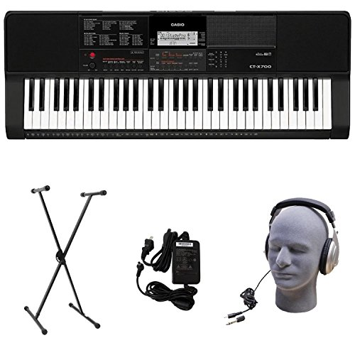 Casio CT-X700 PPK Premium Keyboard Pack with Power Supply, Stand, and Headphones