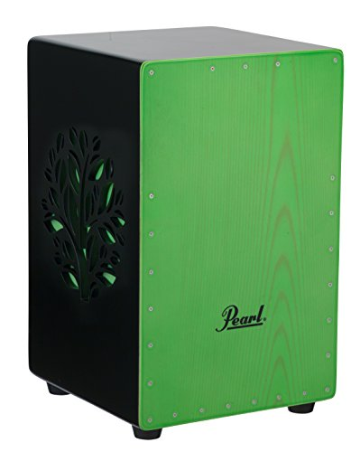 Pearl PBC53D536 3D Cajon with green faceplate and 3D tree