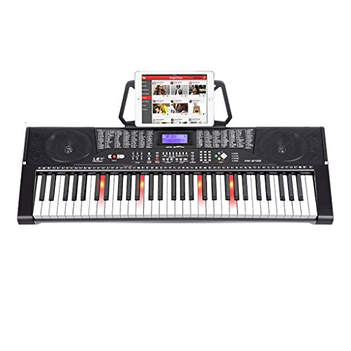DUWEN Keyboard Children Intelligent Keyboard 61 Piano Keys Adult Teaching Beginners Beginner Function (Color : Black)