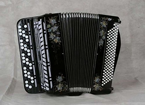 """Bayan (button accordion) Bn-39 student two-voice""""Tula-210″, 55×100-II,""""Tula Accordion"""" 3-row, two-voice, 55×100-II, with ready accompaniment, Dimensions: 397x212x408 mm, Weight: 8 kg. Size 7/8"""