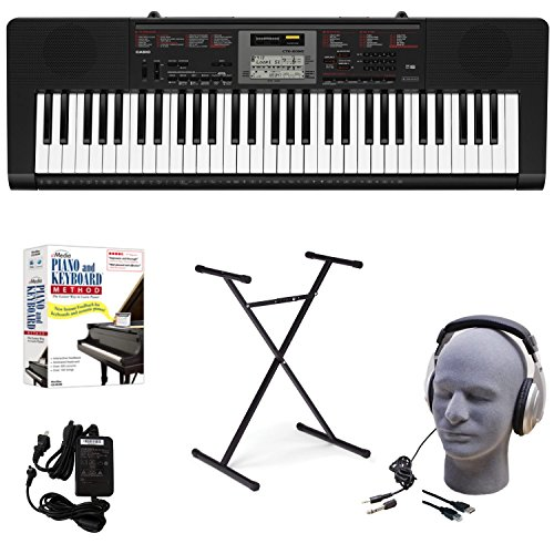 Casio CTK-2090 EDP Educational Keyboard Pack with Power Supply, Stand, Headphones, USB Cable, and Instructional Software
