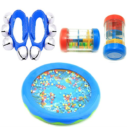 Minibaby Set of 5 Sound Musical Kids Rainmaker Educational Toy Tool