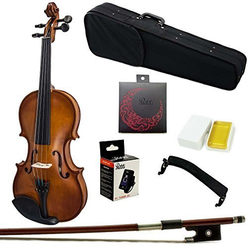 Paititi 4/4 Full Size Artist-100 Student Violin Starter Kit with Brazilwood Bow Lightweight Case, Shoulder Rest, Extra Strings and Rosin
