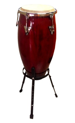 Conga DRUM 11″ + STAND – RED WINE -World Percussion NEW!