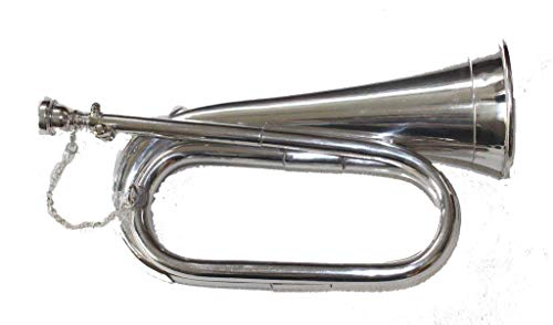 SCEXPORTS NICKEL SILVER Army,Military Bugle With Free Hard Case + M/P