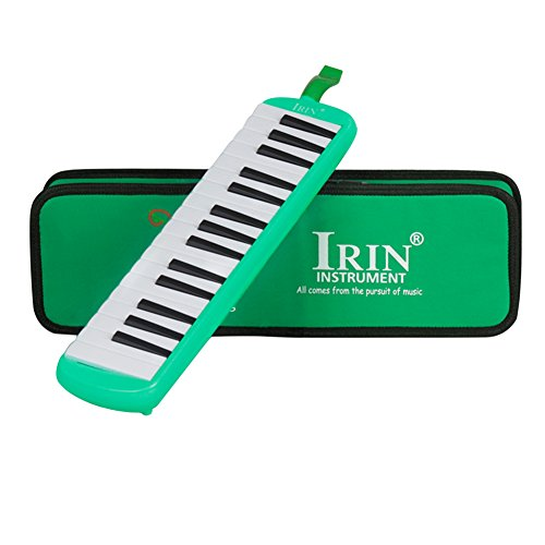 Dilwe 32 Keys Melodica, Melodica with Mouthpiece Musical Instrument for Music Lovers Beginners with Carrying Bag(Green)