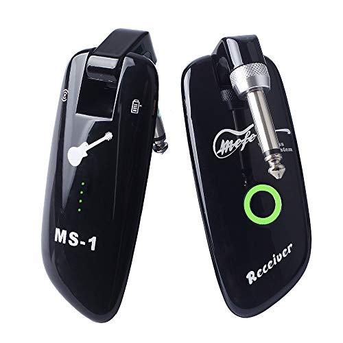 Mefe Rechargeable Wireless Guitar System Guitar Bass Wireless Digital Transmitter Receiver 100 Channels