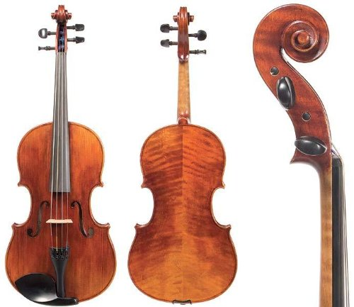D Z Strad Model 700 Viola 15″ Outfit with Bow, Helicore Strings, Bow, Shoulder Rest, and Rosin. 15″ Inch